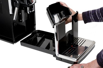 Gaggia Anima slid out tray for spent coffee pucks