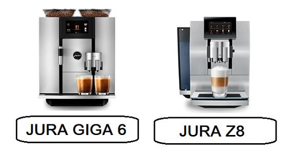 JURA GIGA 6 vs JURA Z8 super premium lines of home espresso machines