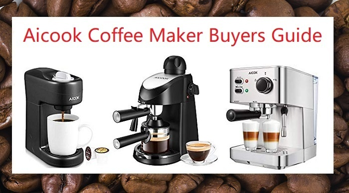 Aicook Espresso Machine and coffee makers models 805, 6816, and 4682 compared