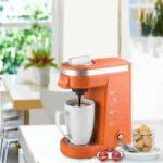 Orange CHULUX single serve k-cup coffee maker