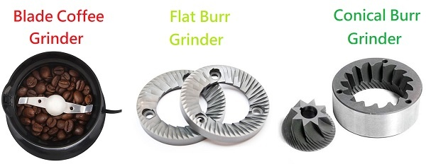 Comparison of Blade vs Flat Burr vs Conical Burr. Burr vs Blade Coffee Grinders