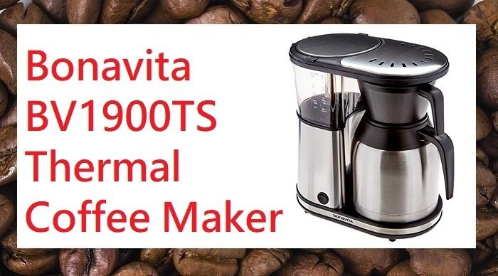 Bonavita BV1900TS 8 cup carafe coffee brewer stainless steel