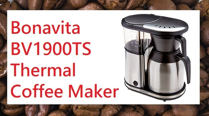 Bonavita BV1900TS 8 cup carafe coffee brewer stainless steel
