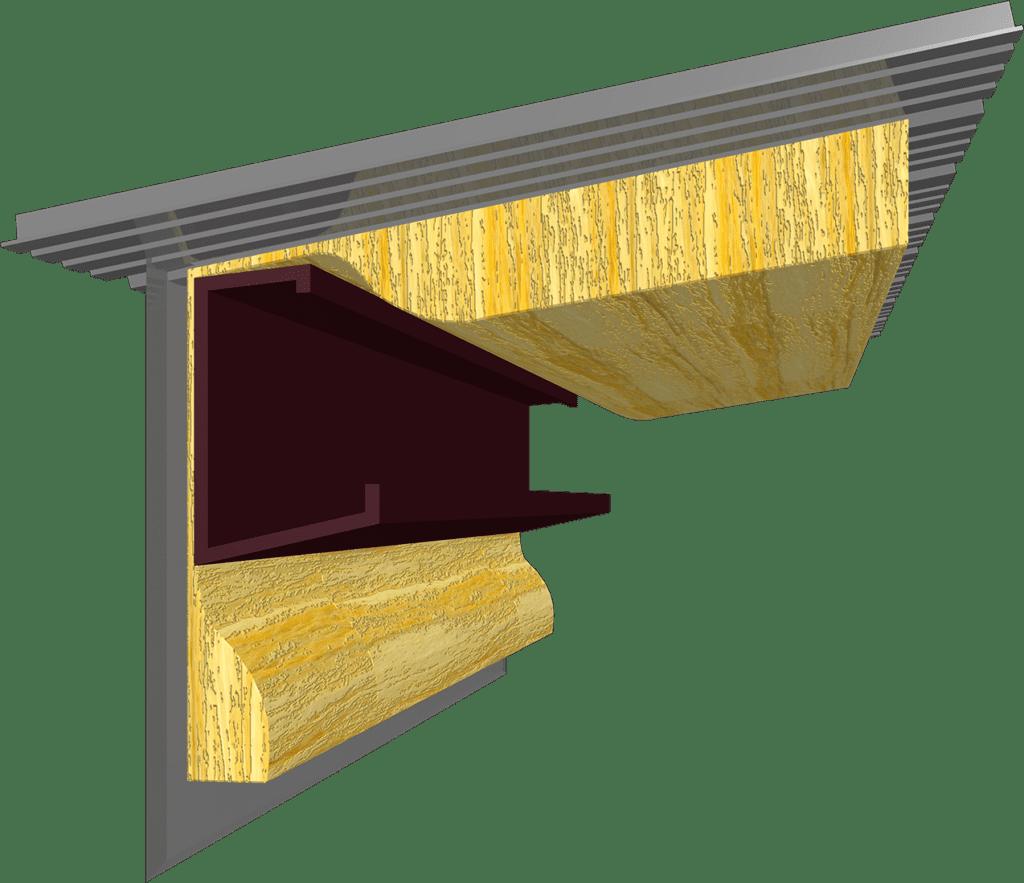Rendering roof wall