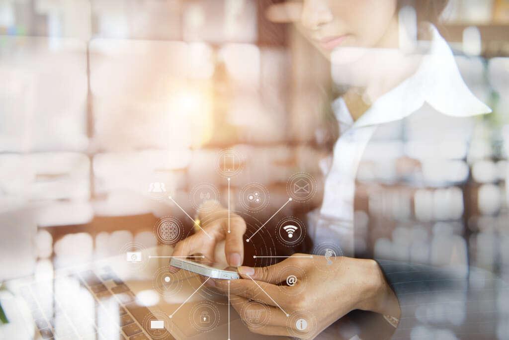 Woman Using Smart Technology
