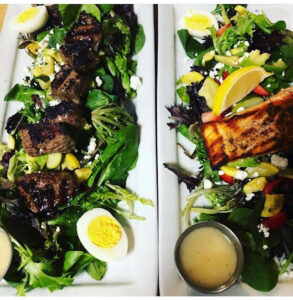 Salad with Steak or Salmon