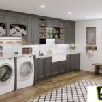 Revamp Kitchen Bath Framed Cabinets Glendale AZ Shaker Laundry Room Cabinets