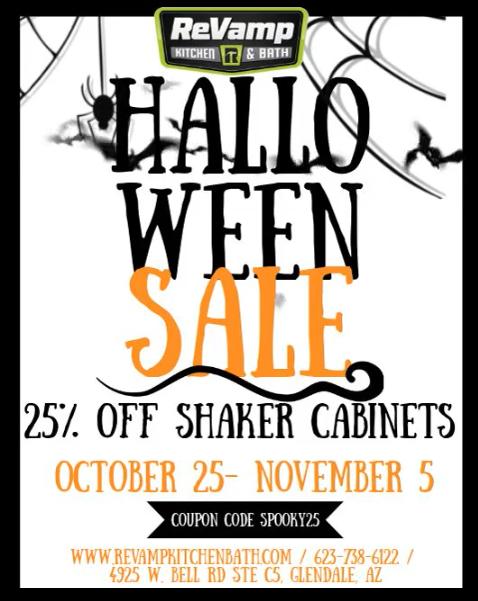 Shaker Cabinet Halloween Sale