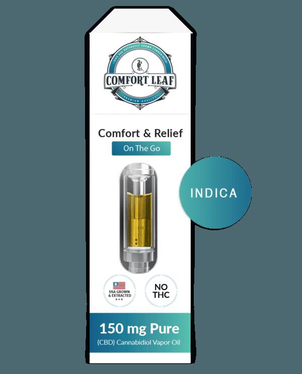 Comfort Leaf CBD + Gelato Indica Vape Cartridge Product Review