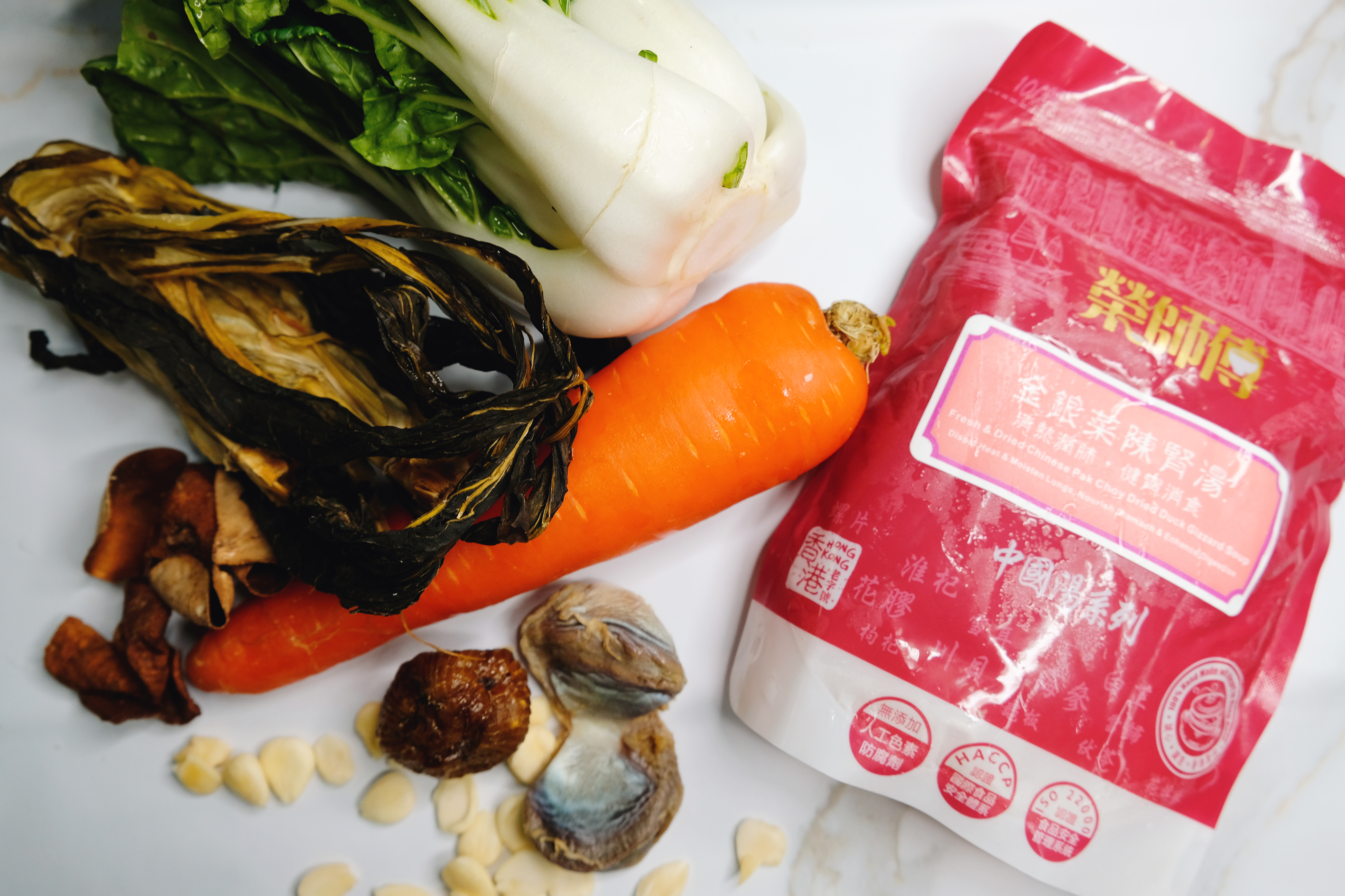 Fresh & Dried Chinese Pak Choy Dried Duck Gizzard Soup (New Product)