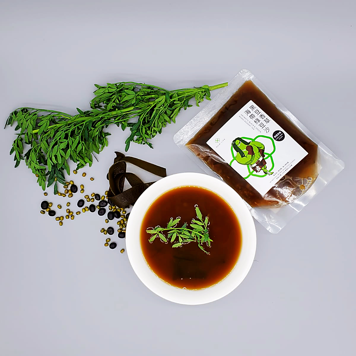 Aromatic Black & Green Beans, Dessert Tea