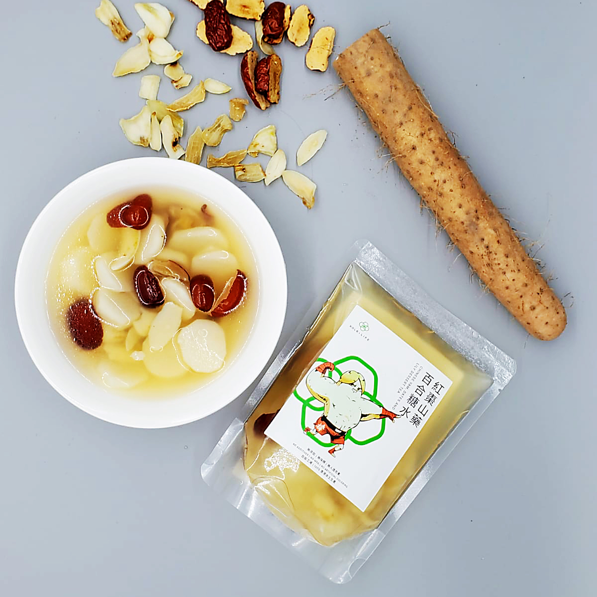 Chinese Yam, Dates and Lily Dessert Tea