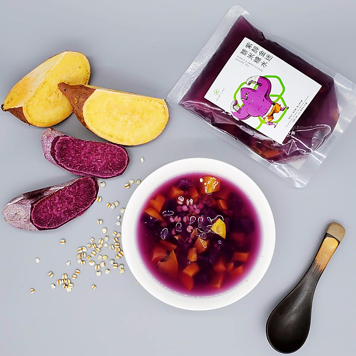 Purple & Sweet Potato Dessert Tea