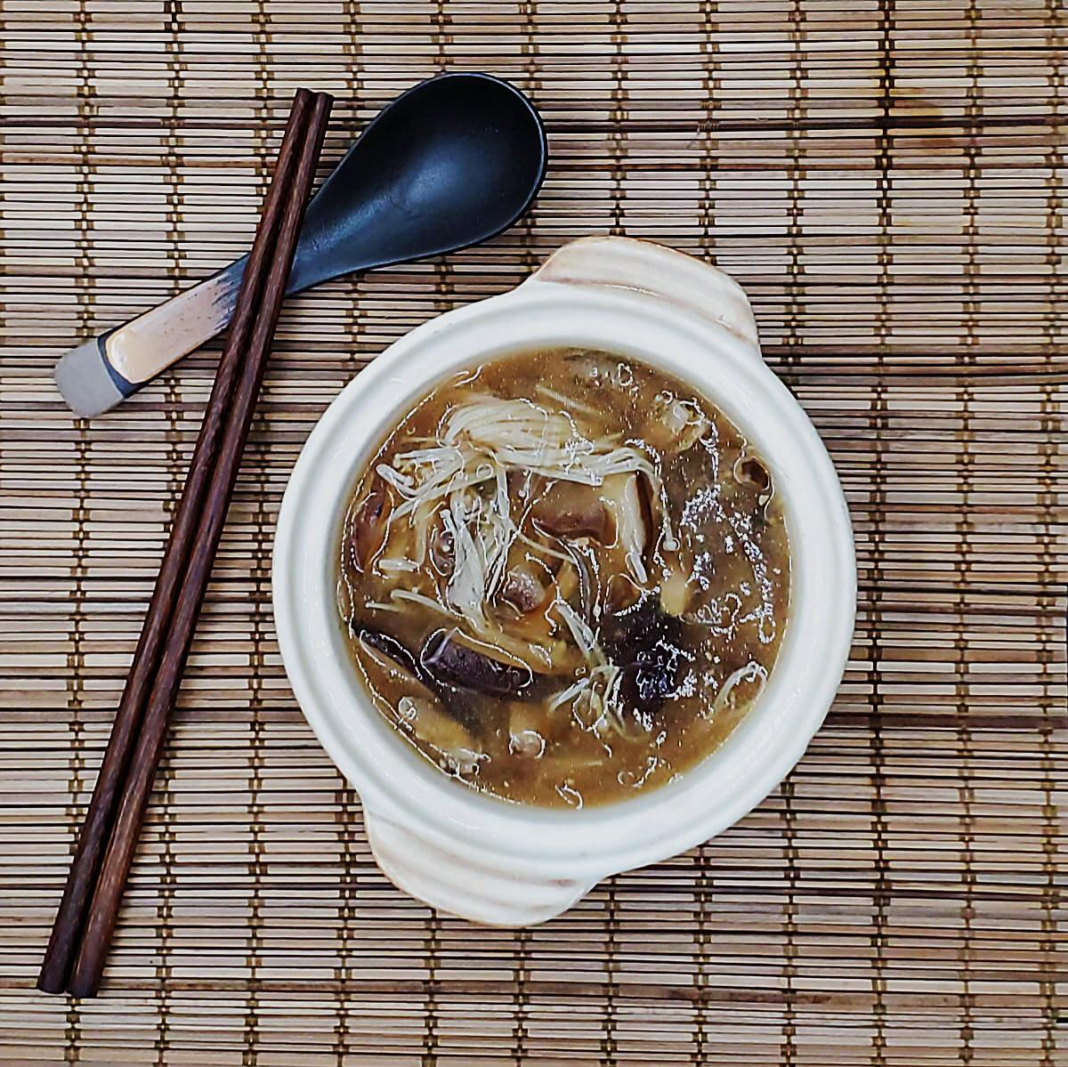 Vegan Faux Sea Cucumber Shark's Fin Soup (New Product)