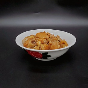 Braised Pig's Knuckle with Lotus Root in Fermented Red Bean Curd Sauce