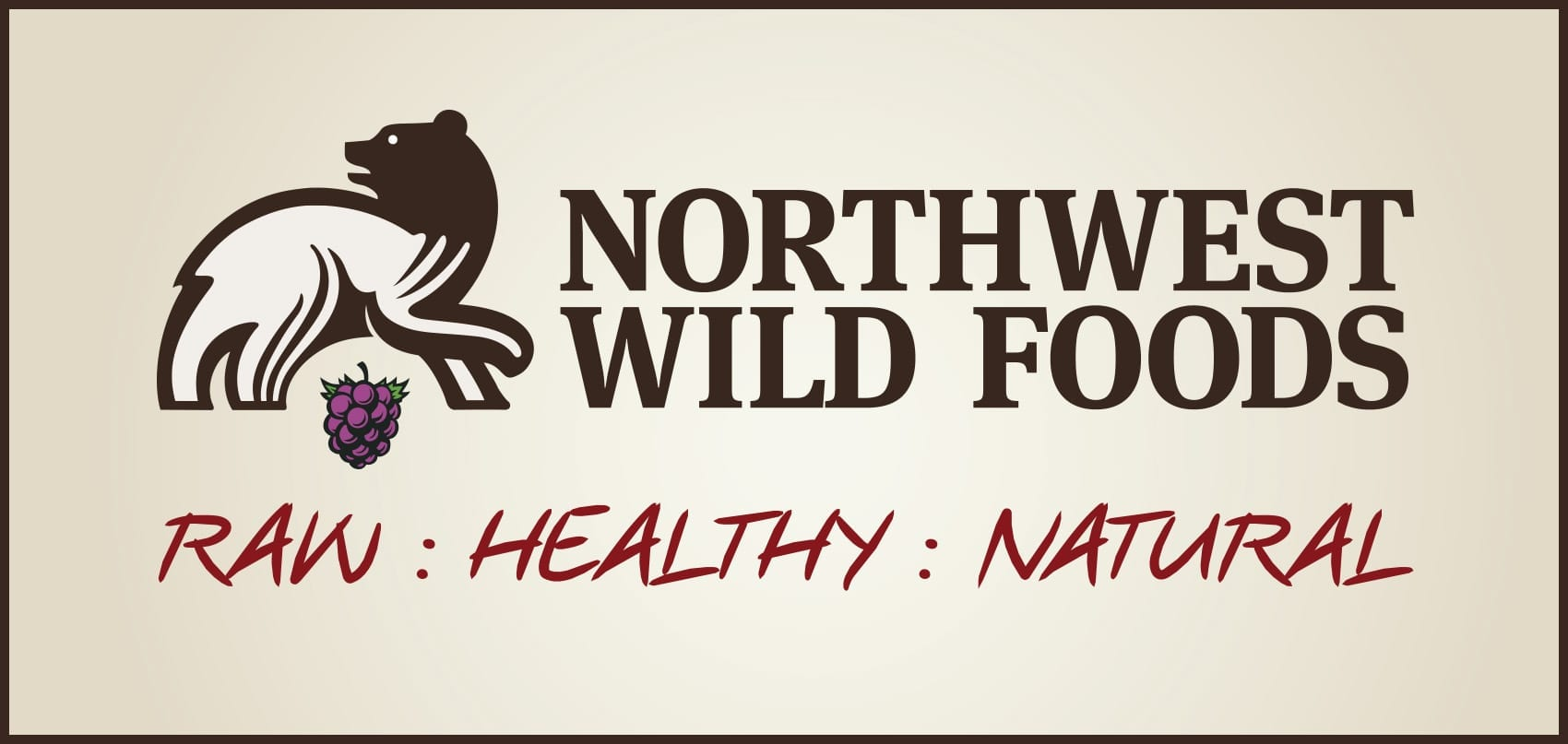 "Natures finest wild & organic foods delivered to your door."" Or ""A delicious path to better health.<br><br><strong>https://nwwildfoods.com/</strong>"