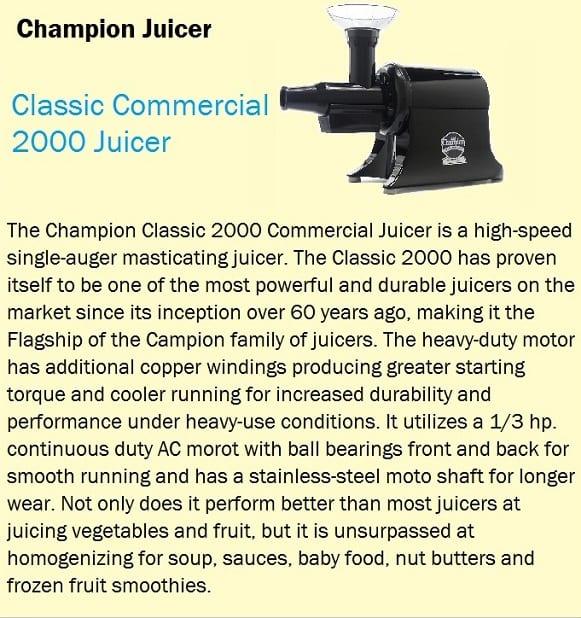 Champion Juicer classic raffle