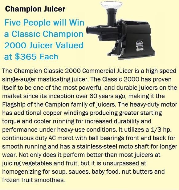 Champion Juicer classic raffle 2