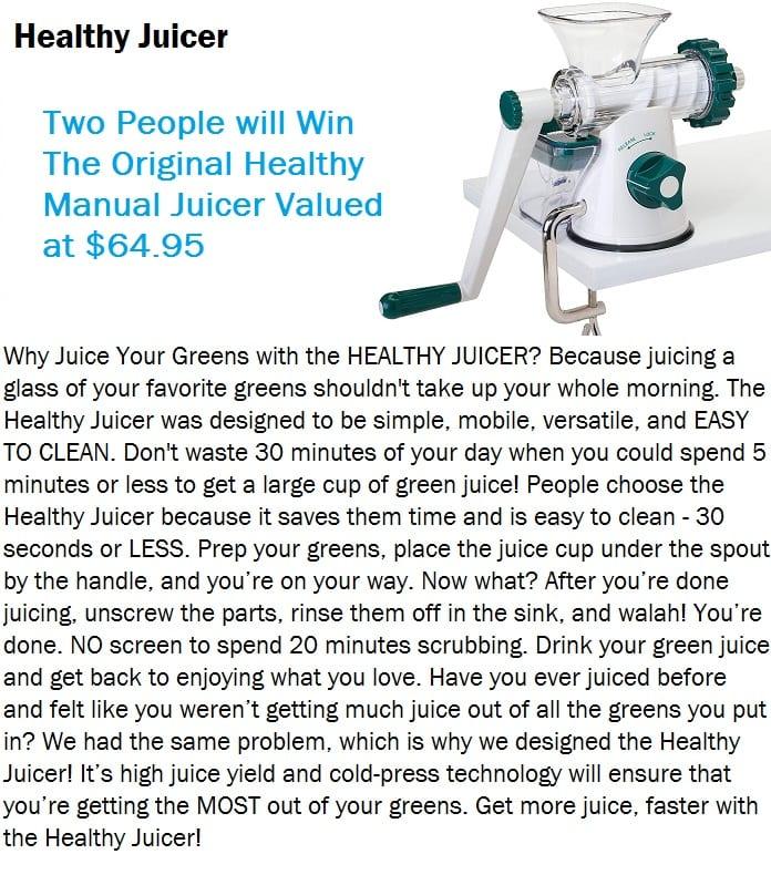 Healthy Juicer raffle