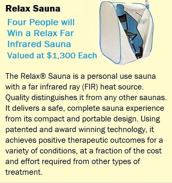 Relax Sauna raffle 2