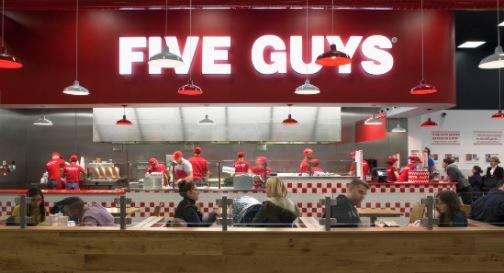 five guys uk menu prices
