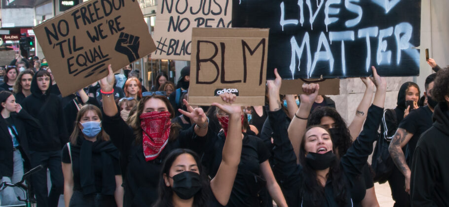 Black Lives Matter Protesters With Signs