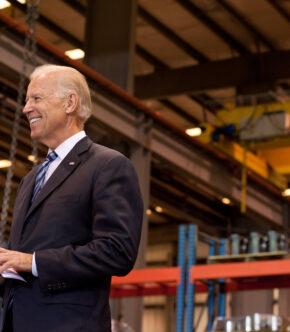 Joe Biden Standing And Smiling