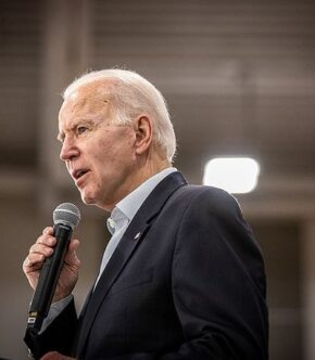 Joe Biden Speaking In Microphone