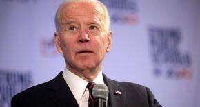 Joe Biden Speaking Into Microphone