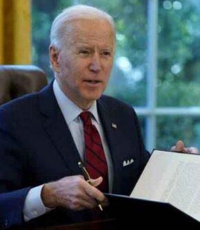 Joe Biden Sitting In Oval Office