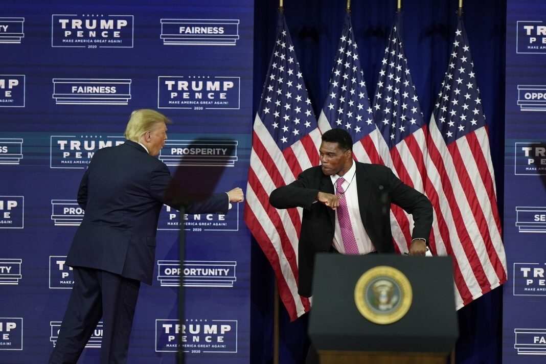 Herschel Walker Promotes Trumps Platinum Plan