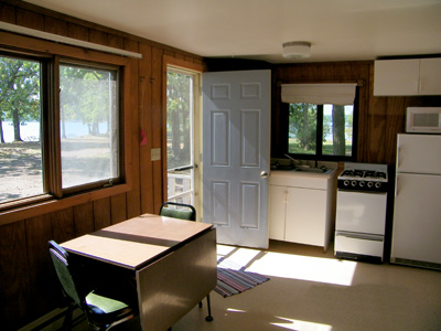 Cabin Two Kitchen/Dining Room