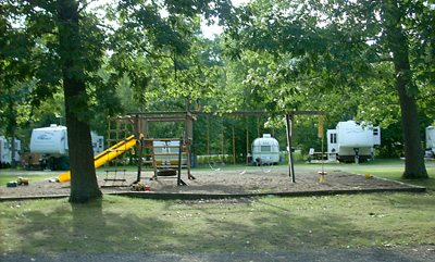 Campground, playground