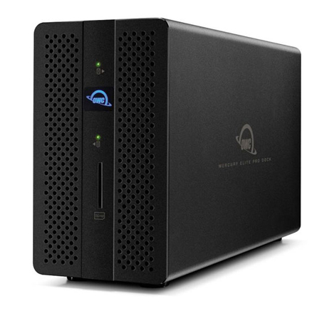 Install your choice of 2.5-inch or 3.5-inch HDDs or SSDs and even combine the speed of a SSD with the cost-effective storage capacity of a HDD with OWCs Mecury Elite Pro Dock