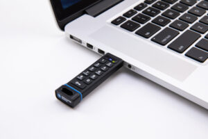 The SecureDrive KP device is hardware-encrypted and is FIPS-validated.