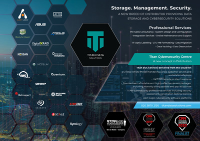 Titan Data Solutions specialise in data storage and Cybersecurity solutions