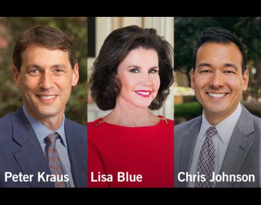 Lisa Blue, Peter Kraus and Chris Johnson