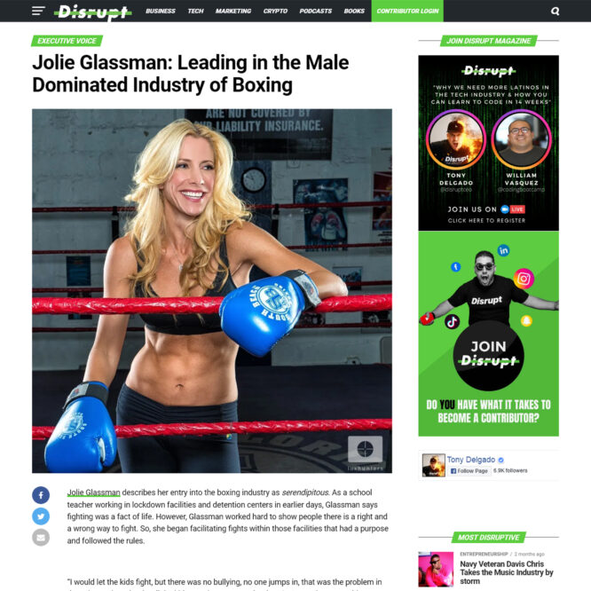 Jolie Glassman: Leading in the Male Dominated Industry of Boxing