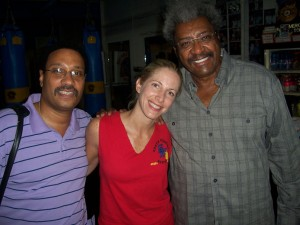 Jolie Glassman, Don king and Carl King