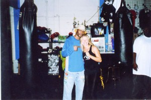 Jolie Glassman & Bernard Hopkins at South Beach Boxing