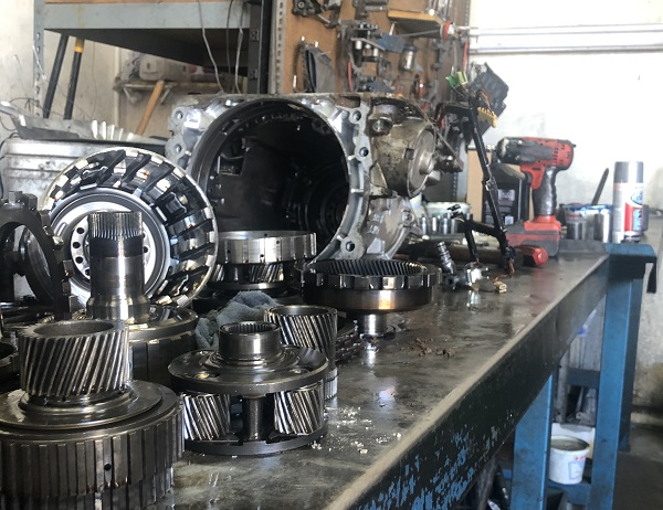 Transmission rebuild in process at Desert Transmissions in Glendale Arizona.