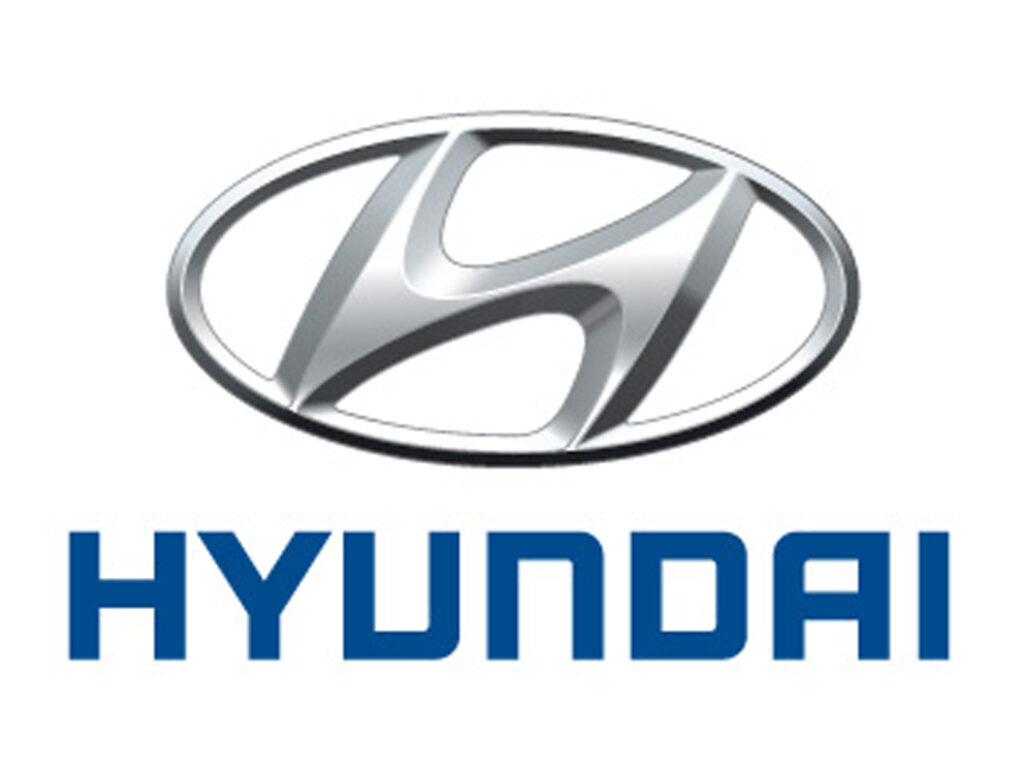 Hyundai Logo Blue And Silver