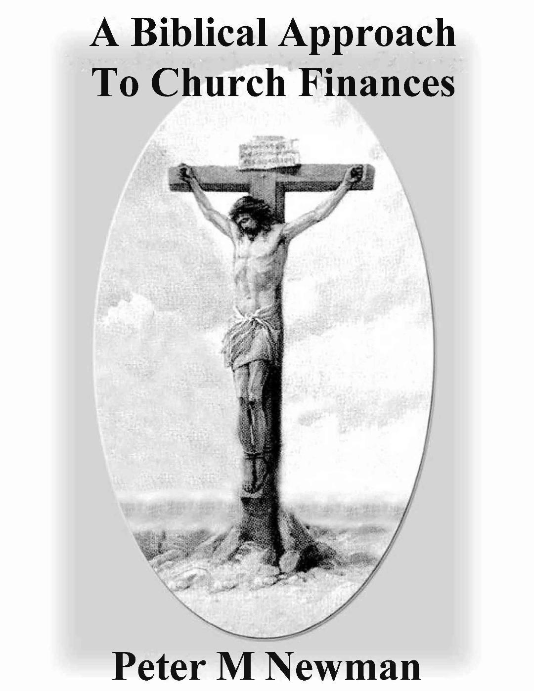 A Biblical Approach To Church Finances