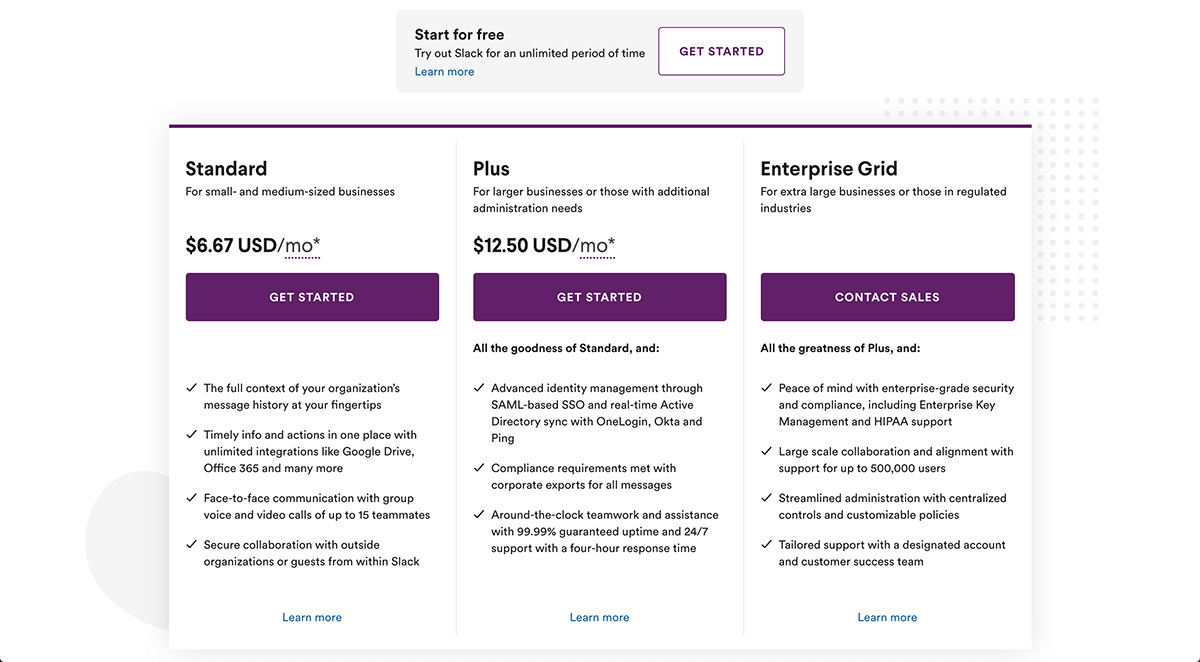 saas user pricing model