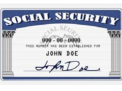 graphic social security card