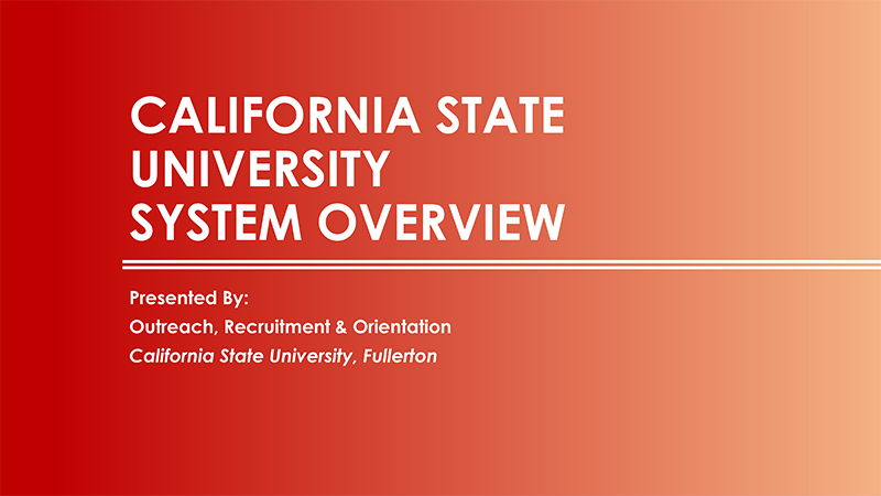 California State University System Overview