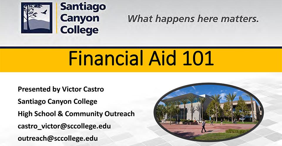 Financial Aid 101 Presentation