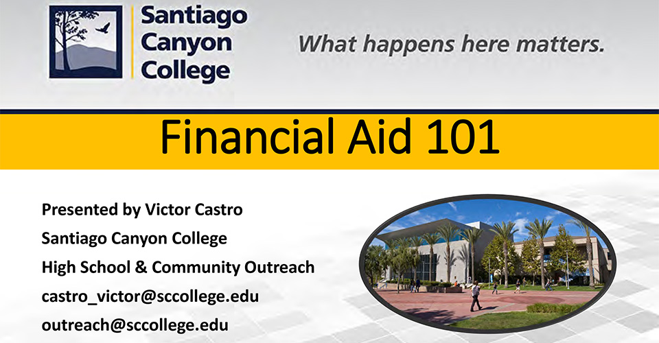 Financial Aid 101 Presentation