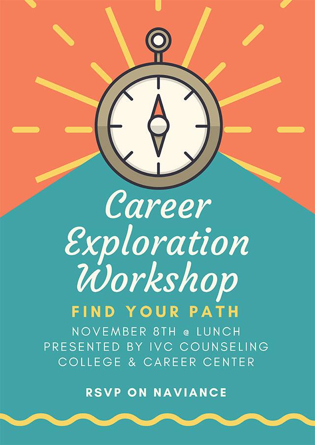Career Exploration Workshop November 8th