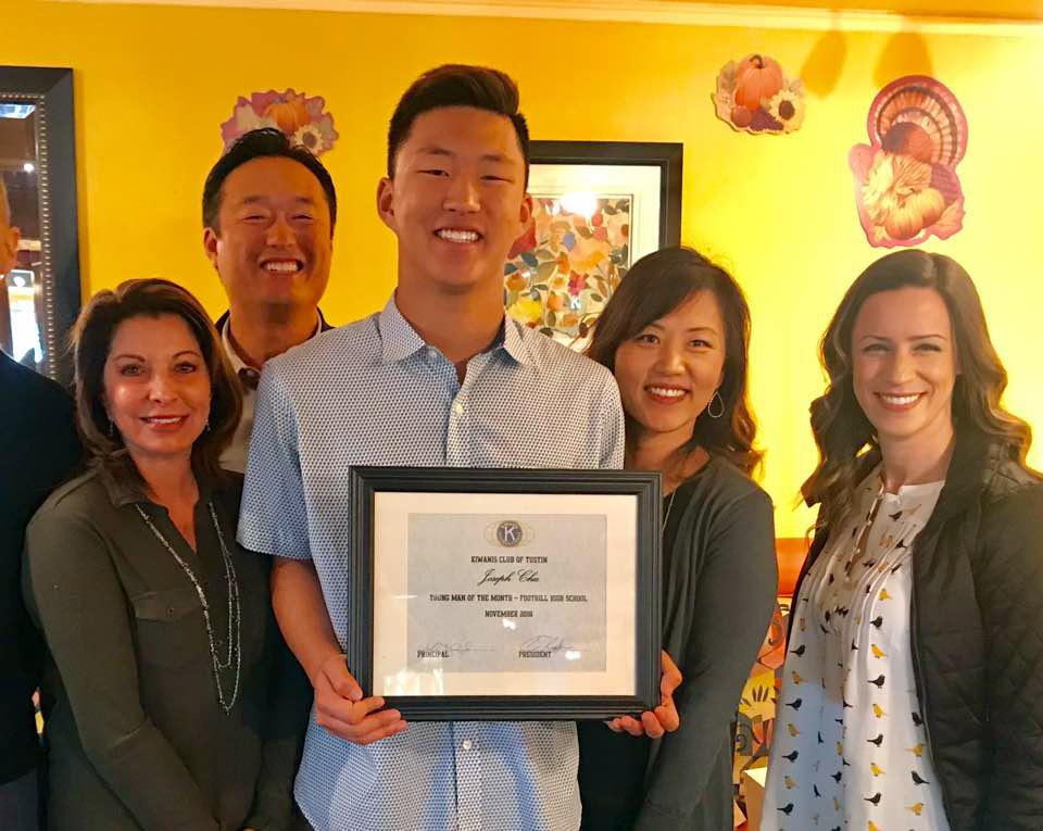 Joseph Chu – Kiwanis Young Man of the Month November